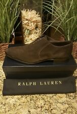 Ralph Lauren Mens Collection Calf Suede Leather Sz 12 Gosforth Italy Dress Shoe