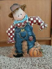Tin Scarecrow Candle Holder