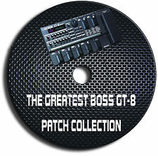 BOSS GT-8 - höchste & EXCLUSIVE PATCH Bibliothek gitarreneffektpedale CD