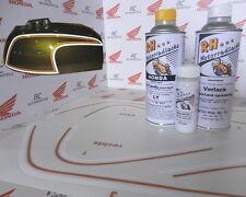 Honda CB 350 Four Lacksatz Lack Set  Bacchus Olive Grün+ Tankzierstreifen Orange