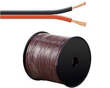 100 m Lautsprecher-Kabel 2,5 mm² rot/schwarz | Boxenkabel | CCA-Kupfer