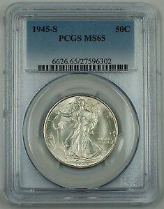 1945-S Walking Liberty Silver Half Dollar, PCGS MS-65