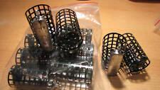 10 Stück Futterkorb mit Wirbel - Metall 60g mit deckel