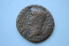 ANCIENT ROMAN BRONZE AUGUSTUS AS COIN 1st CENTURY AD CAESAR