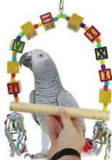 New listing 1108 Large Abc Swing Bird Toy parrot conure quaker african grey macaw amazon pet