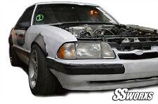 SSworxs Ford Mustang 1979 - 1993 ALL Models Fender Flares metal Steel 5.0