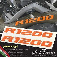 2 Adhésifs de Réservoir Moto BMW R 1200 GS Adventure LC 245 X 25 cm 3D Orange