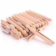 PACK OF 12 24 48 60 72 X HIGH QUALITY WOODEN DOLLY PEGS CLOTHES LINE WASHING