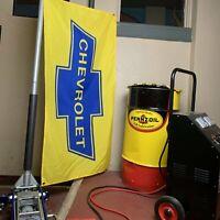 Chevrolet Chevy Banner Flag Garage BBC SBC Camaro Corvette Racing NOS Dealer SS