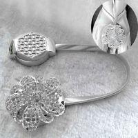 Magnetic Crystal Flower Curtain Tiebacks Tie Backs Buckle Clips Holdbacks Decors