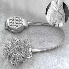Fleur De Cristal Argent Rideau Clips Support Pinces Embrasse Décor À La Maison