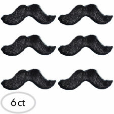 6 Self Adhesive Fake Mustaches Favors Disguise Spanish Fiesta Party ~ Moustaches