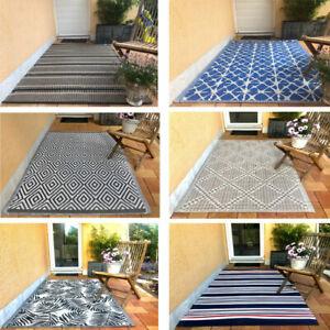 Outdoor Teppich Terrasse Balkon Garten Innen- Außenbereich wetterfest 120x180cm