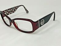 COACH NEW YORK S2009 Sunglasses Frame 55-16-125 Burgundy Crystal Wrap CT30