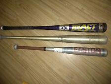 Easton And Louisville Slugger. S 44 , 3 Bats