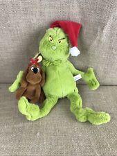 "13"" The Grinch & Max Christmas Plush Stuffed Animal Toy Dr. Seuss"