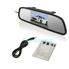 "4.3"" LCD Screen Monitor Mirror For Reversing Camera Rearview Vehicle CAR DVD AV"