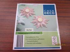 2er-Set Wood Ornament - Storm Lights With Detachable Glasteelichthaltern Ob/
