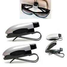 Set 2 Silver Black Car Sun Visor Clip Holders Sunglasses Reading Eyeglasses Card