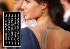 Angelina JOLIE Tatuaggio Temporaneo #Henna Mehndi Glitter #Stencil STICKER BODY ART