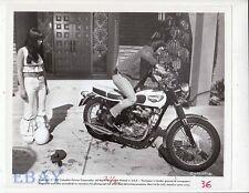 Cher Sonny Bono on motorcycle VINTAGE Photo