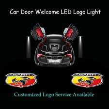 2x 3D Scorpion Logo Car Door Laser Projector Spotlight CREE LED Light for ABARTH