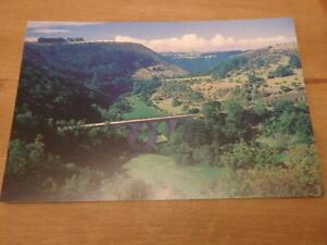 The Viaduct, Monsal Dale, near Little Longstone, Derbyshire, Hedgerow postcard