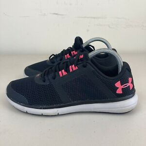 Under Armour Fuse FST Womens Running Shoes Black Pink US 7.5 VGC + Free Postage