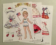 """Tiny Ann Estelle"" 4 page magazine paper doll by Siyi Lin  2009"
