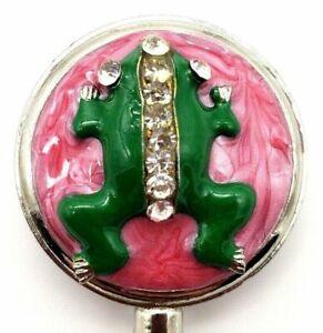 Purse Bag Handbag Hook Table Swivel Top Bar Hanger Frog Toad Pink Black