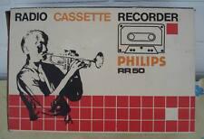 1971er PHILIPS RR 50 .... Original Karton für Radio Cassette Recorder