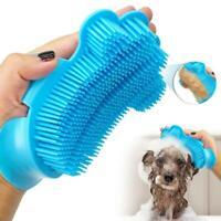 Pet Dog Cat Bath Brush Rubber Dog Cleaning Massage Shampooing Comb Glove F5X3