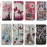 For Samsung Galaxy S5 6 7 Note 8 Cartoon PU Leather Wallet Case Flip Stand Cover