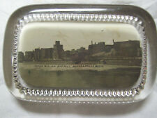 GLASS PAPERWEIGHT FLOUR MILLING DISTRICT MINNEAPOLIS MN