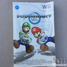 Instructions Manual Book For MARIOKART Wii