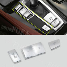 2x Stainless Center Control Buttons Stripe Cover Trim For BMW 5 Series F10 11-16