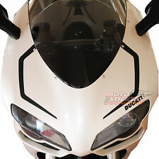 DUCATI  848 - Tabelle adesive anteriori SBK a 1 colore - racing decal