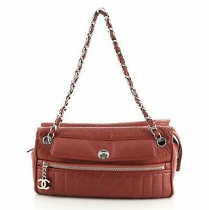 Chanel 50's Satchel Perforated Leather Medium