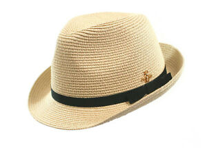 Black Ginger Trilby Panama Bee Detail Hat Foldable Roll Up + Travel Bag Holiday