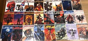 LOVELESS # 1 - 24 FULL SERIES SET BULK LOT Vertigo Comics 2005 Brian Azzarello