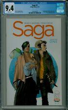 SAGA #1 CGC 9.4 NM mint white pages Vaughan Staples Image comics 3794185005