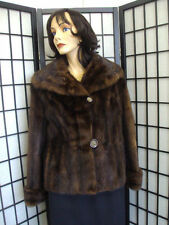 Mint Vintage Brown Muskrat Fur Jacket Coat Women Woman Sz 6-8 Small