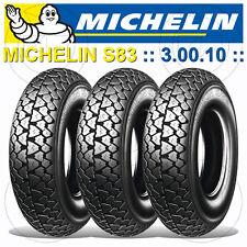 Set 3 Michelin S83 Pneumatiques 3.00-10 42j Piaggio Vespa PK 50 XL Rush AE