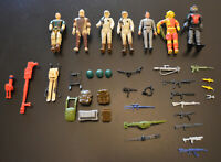 Vintage 1980's G.I. Joe Star Wars Toy LOT with Figures, Parts Guns & Accessories