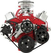 BILLET SPECIALTIES CHEVY FRONT ENGINE SERPENTINE CONVERSION KIT,SBC,MID,2122,BLK
