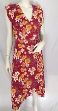 & Other Stories Frill Wrap Dress Floral Print Size 14