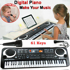 61 Keys Digital Electric Piano Music Electronic Keyboard Organ Mini Microphone
