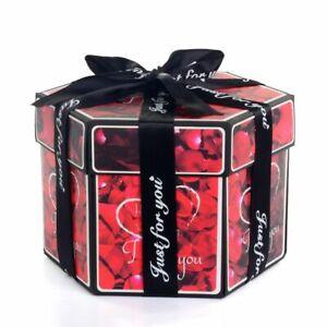 Gift Box Hexagon Surprise Explosion DIY Handmade Photo Album Wedding Valentine
