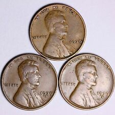 1939 + 1939-D + 1939-S Lincoln Wheat Cents Lowest Prices On The Bay! Free S/H