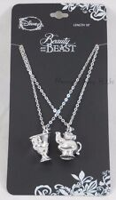New Disney Beauty And The Beast Mrs. Potts and Chip Bestie BFF 2 Pk Necklace Set